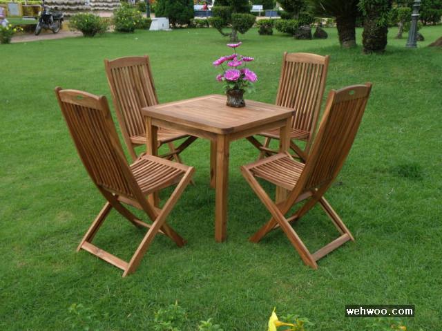 정원가구, 나무 테이블, 원목 테이블, 목제 테이블세트, 테이블 세트
