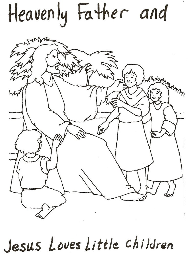 Jesus And Heavenly Father Coloring Page