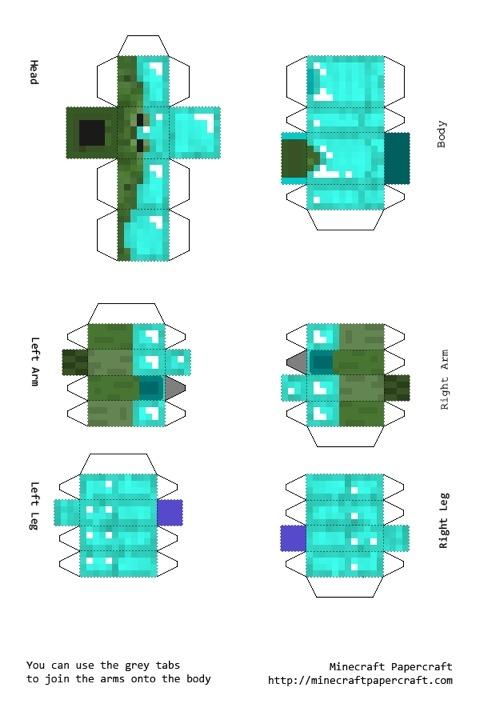 Майнкрафт как сделать из бумаги зомби