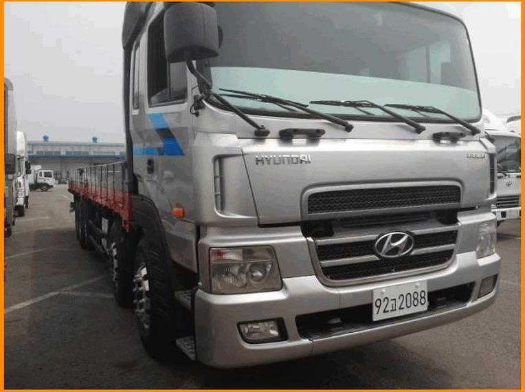 중고대형화물차매매-중고 현대트럭 뉴파워텍 25톤카고트럭 오토 2005년07월식을 판매합니다,중고25