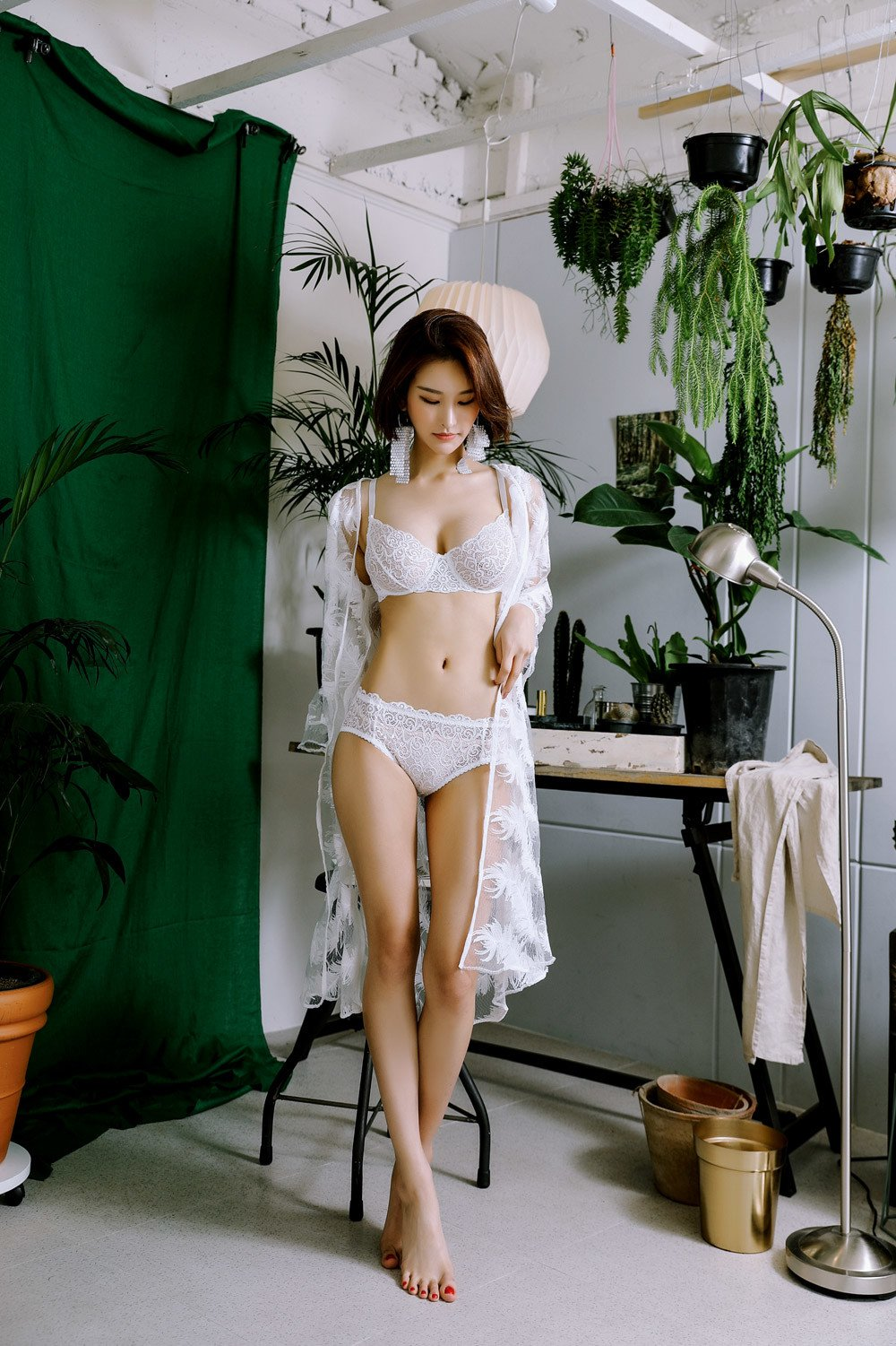 hot Korean lingerie model